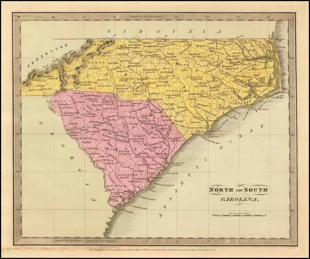 North and South Carolina By David Hugh Burr