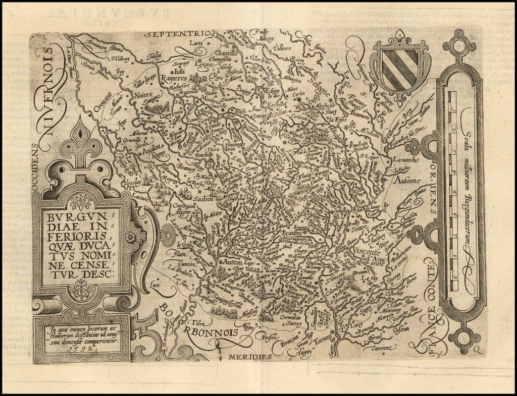 Burgundiae Inferioris Quae Ducatus Nomine Censetur Desc. By Matthias Quad