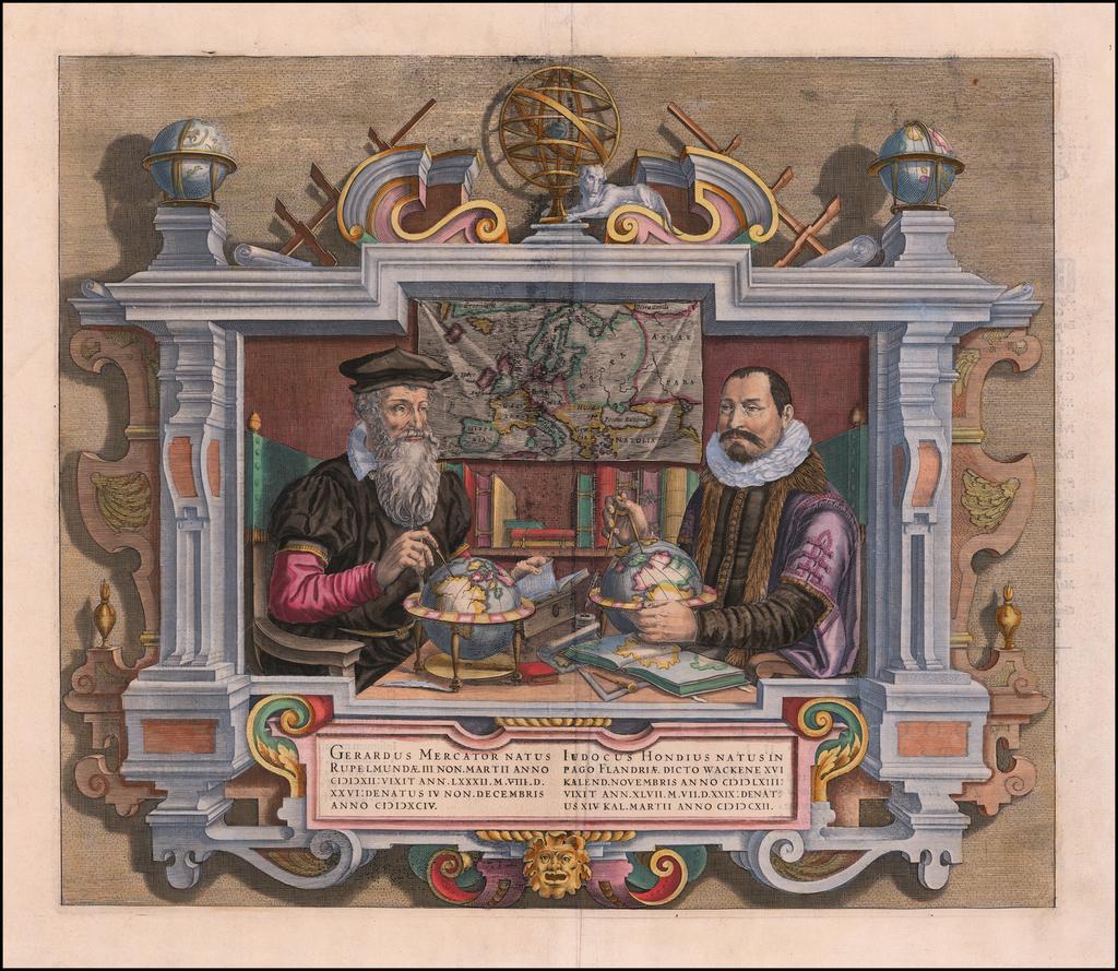 Gerardus Mercator . . . [and] . . . Iudocus Hondius . . .  By Coletta Hondius