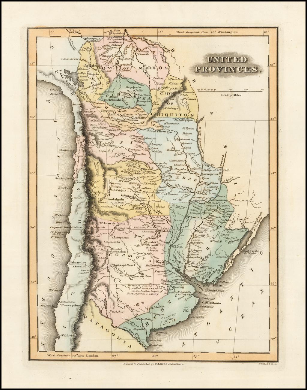 United Provinces (Argentina) By Fielding Lucas Jr.