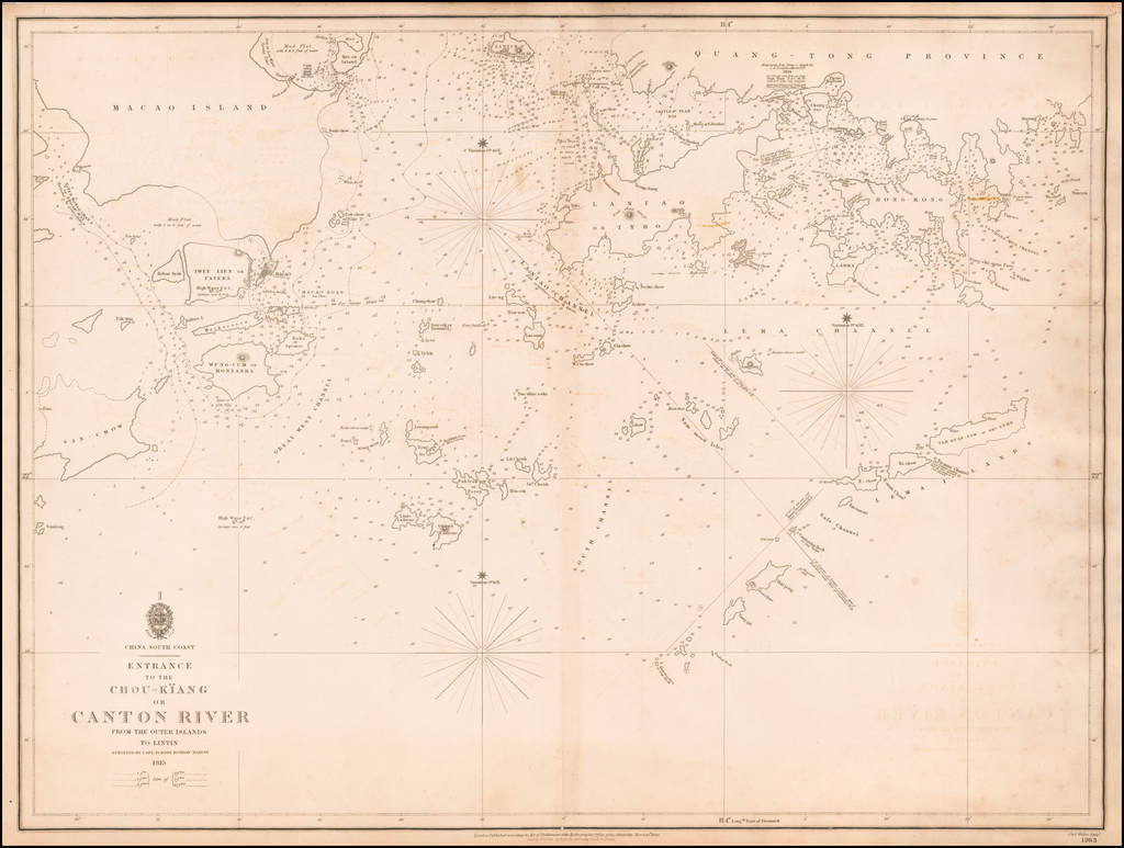 Entrance to the Chou-Kiang or Canton River From The Outer Islands To Lintin Surveyed By Capt. D. Ross Bombay Marine 1815 By British Admiralty
