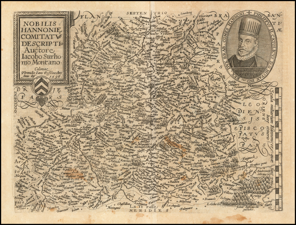 Nobilis Hannonie Comitat Descriptio Auctore Iacobo Surhonio Montano . . . 1596 By Matthias Quad / Janus Bussemacher