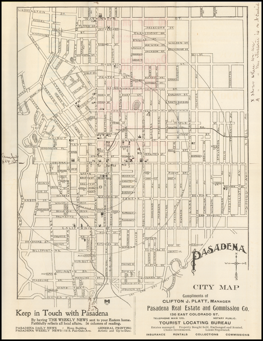 Pasadena City Map (and Guide) By Pasadena Real Estate and Commission Co.