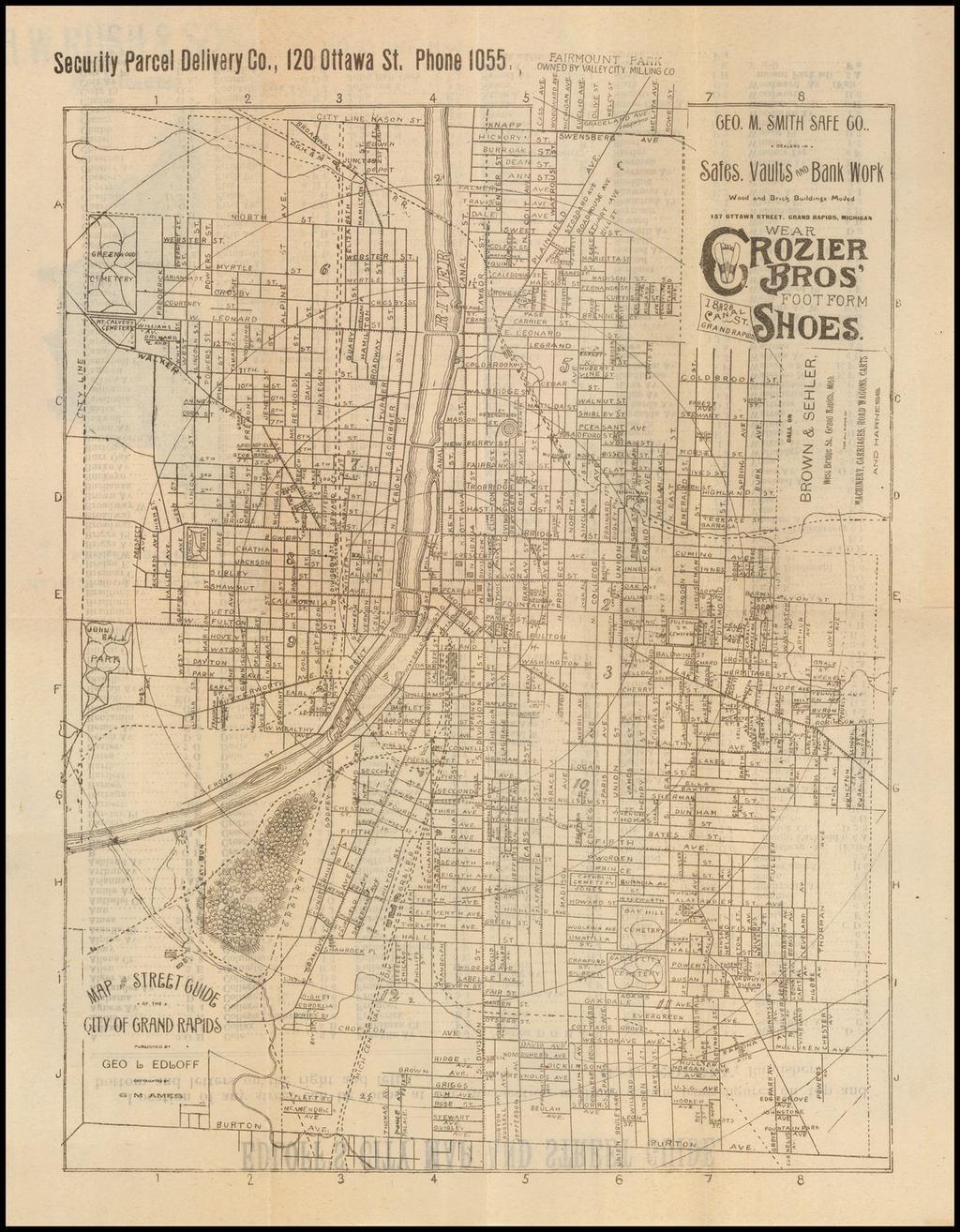 Map and Street Guide of the City of Grand Rapids Published By Geo. L. Edloff By