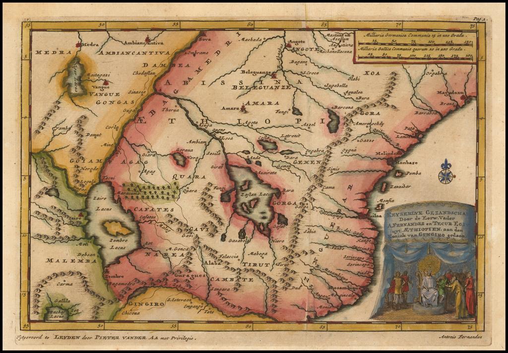 Keyserlyk Gezandschap door de eerw vader Afernandez en Tecur Egzy . . . By Pieter van der Aa