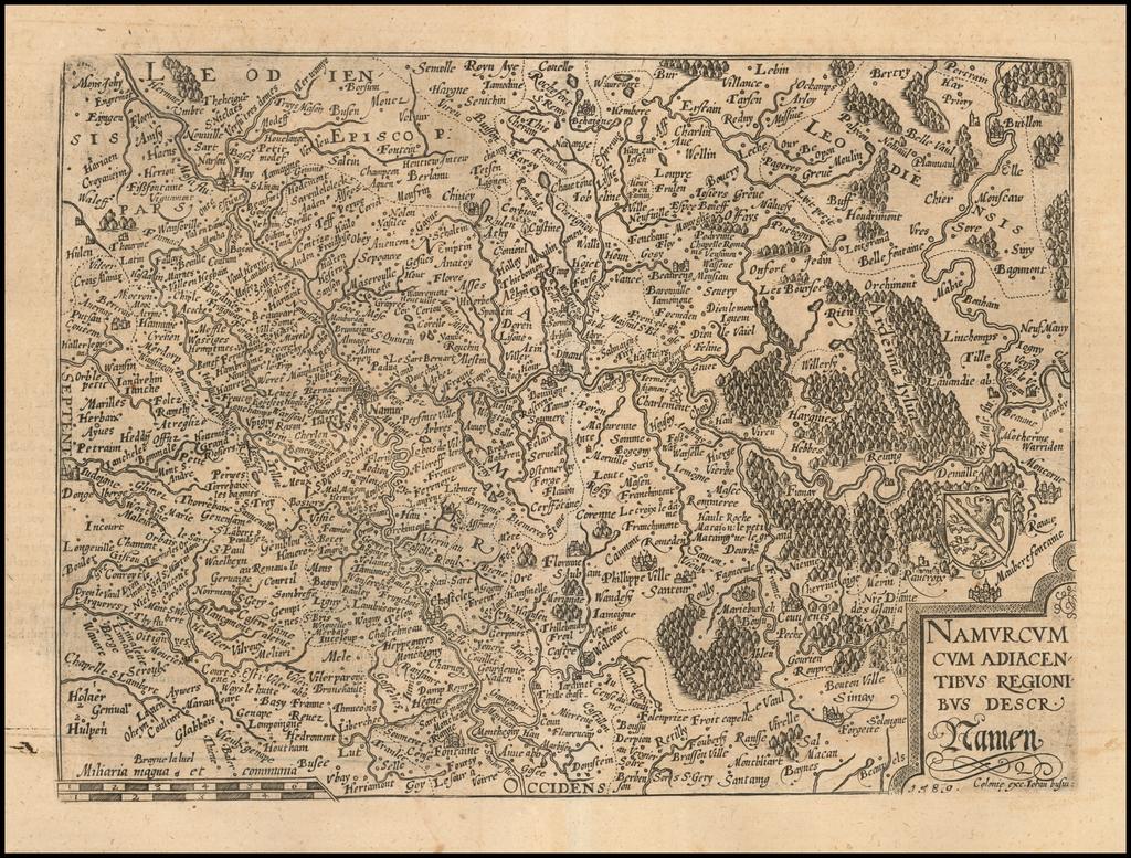 Namurcum Cum Adiacentibus Regionibus Descr Namen  . . .  1589 By Matthias Quad / Janus Bussemacher