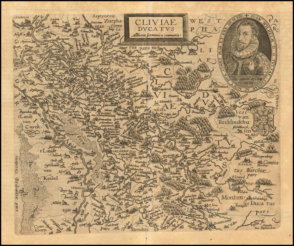 Cilviae Ducatus By Matthias Quad / Janus Bussemacher