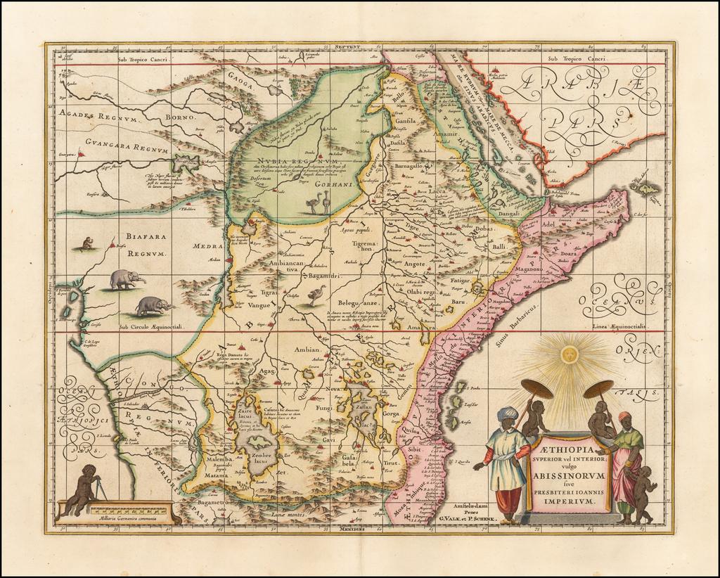 Aethiopia Superior vel Interior vulgo Abissinorum sive Presbiteri Ioannis Imperium By Valk & Schenk