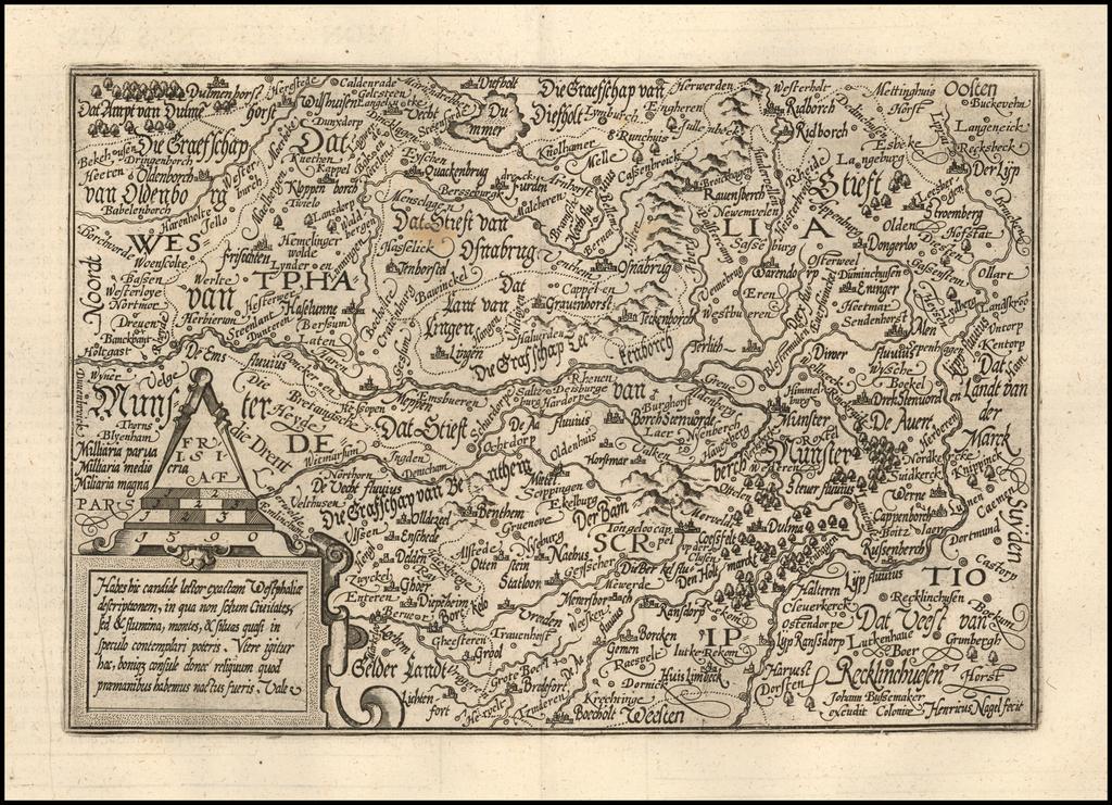 Habes hic candide lector exactam Westphaliae descriptionem . . . By Matthias Quad / Janus Bussemacher