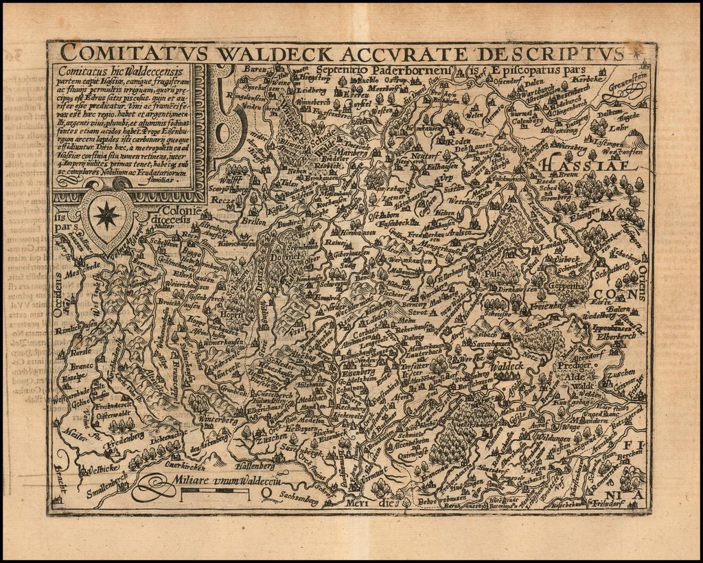 Comitatus Waldeck Accurate Descriptus By Matthias Quad / Janus Bussemacher