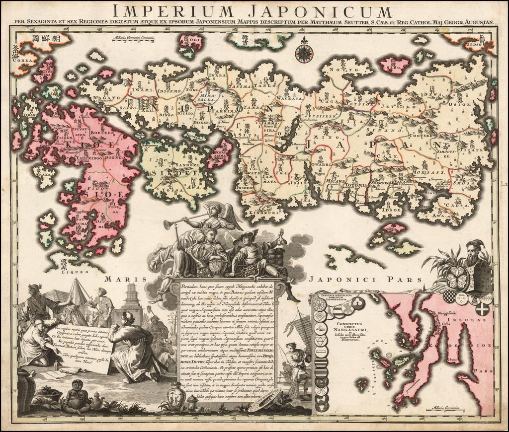 Imperium Japonicum Per Sexaginta et Sex Regiones Digestum Atque Ex Ipsorum Japonensium Mappis Descriptum . . .  By Matthaus Seutter