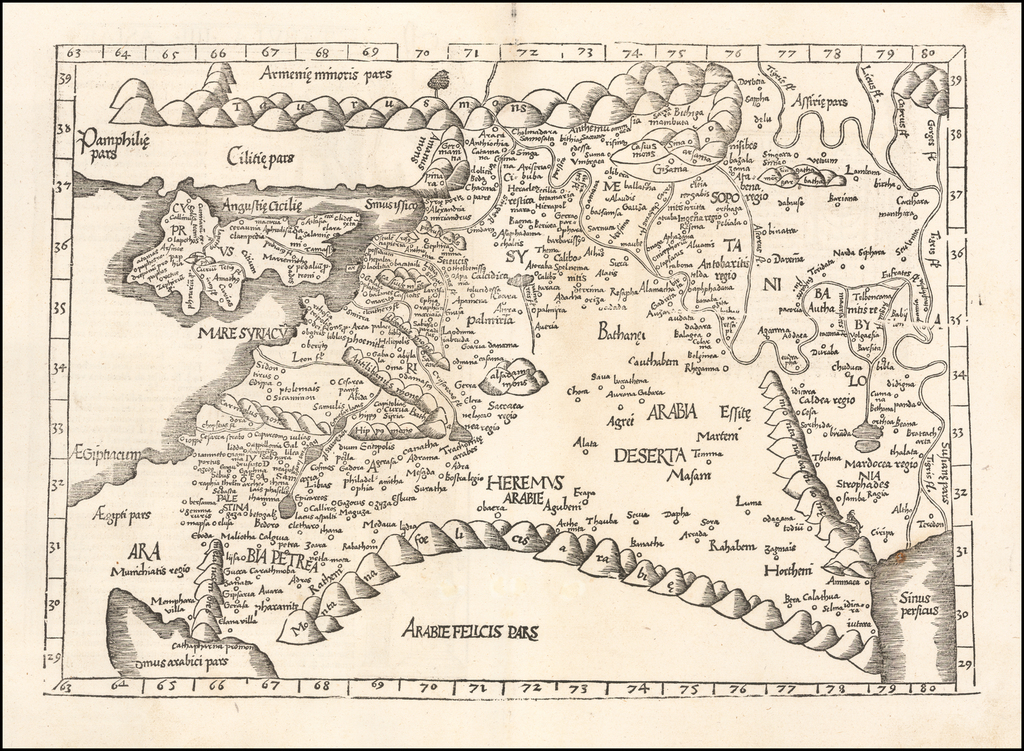 [Untited Modern Map of Cyprus, Syria, Palestine, etc.] By Lorenz Fries