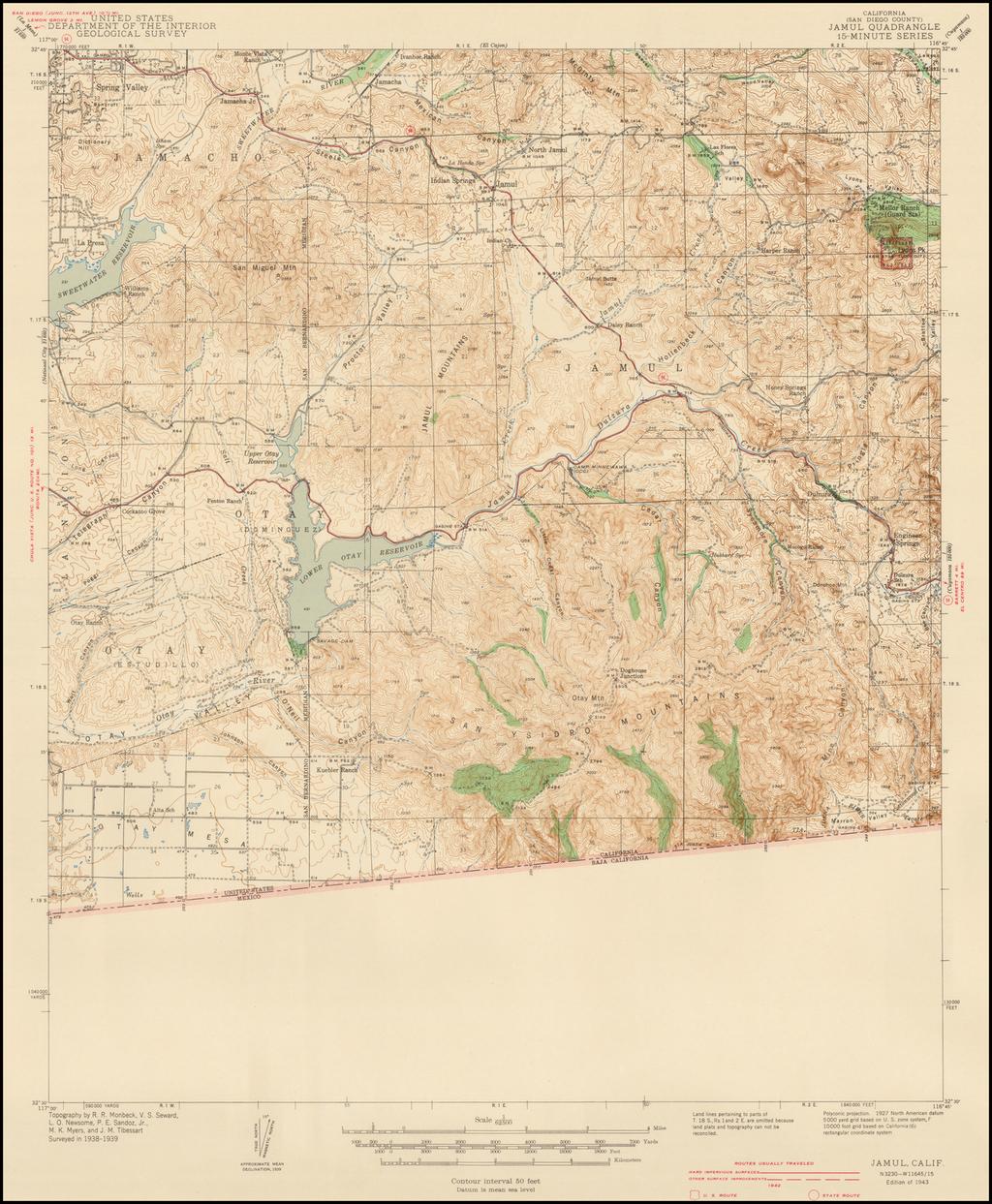 Jamul Quadrangle 7 1/2-Minute Series By U.S. Geological Survey