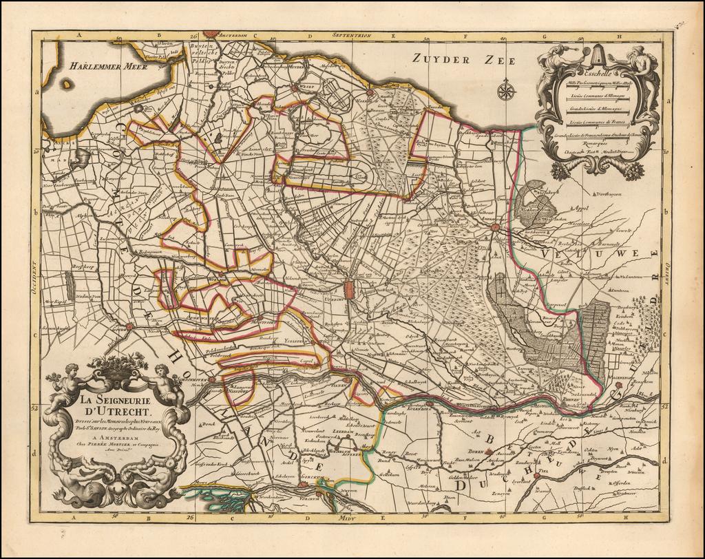 La Seigneurie D'Utrecht. Dresse sur les Memoires les plus Nouveaux Parle Sr. Sanson. Geographe Ordinaire du Roy. By Pieter Mortier