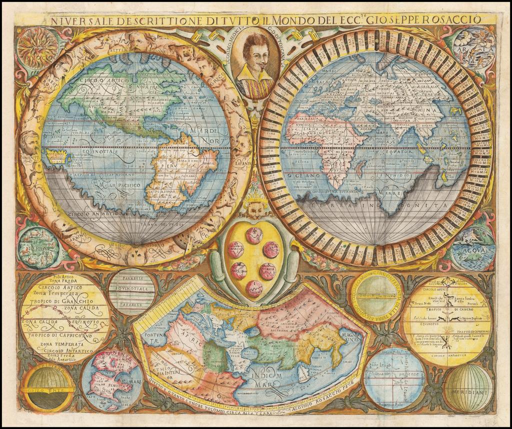 Universale Descrittione Di Tutto Il Mondo Del Eccte. Giuseppe Rosaccio By Giuseppe Rosaccio