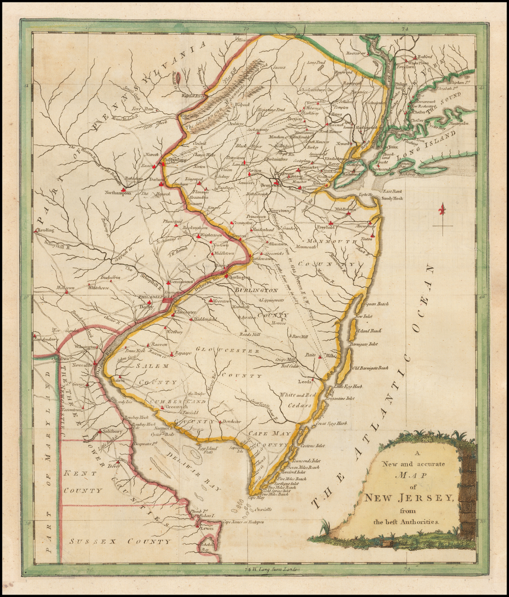 A New and Accurate Map of New Jersey, from the Best Authorities By Universal Magazine