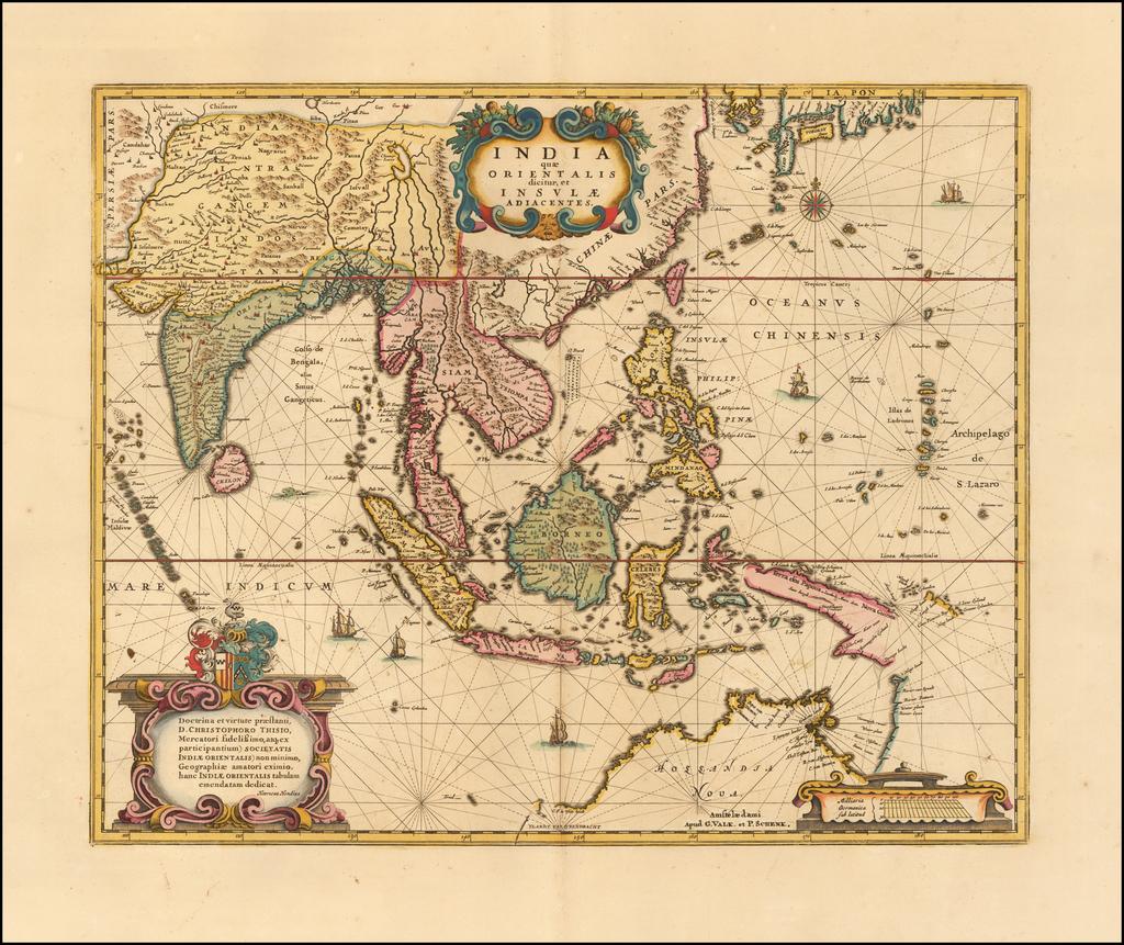 India quae Orientalis dicitur et Insulae Adiacentes By Peter Schenk  &  Gerard Valk