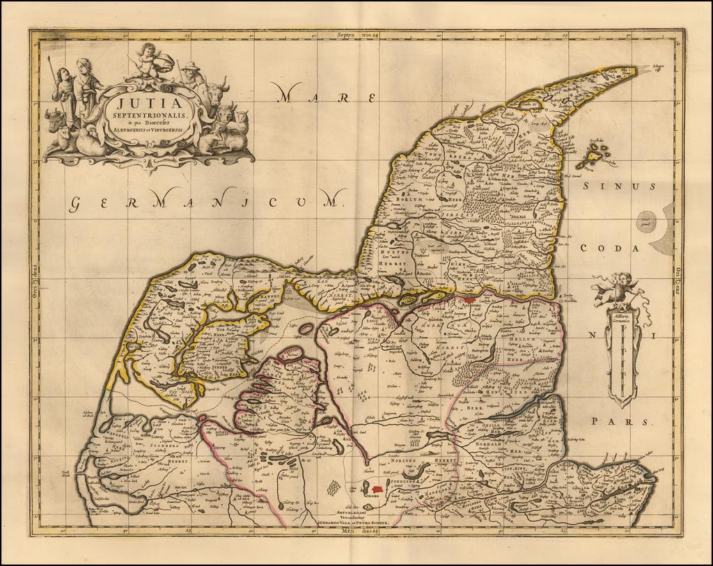 Jutia Septentrionalis in qua Dioceses Alburgensis et Viburgensis By Peter Schenk  &  Gerard Valk