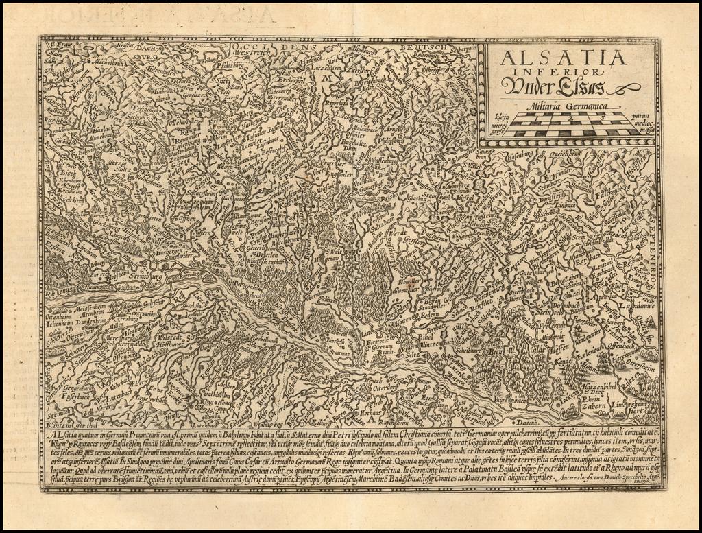 Alsatia Inferioris Ander Elsas By Matthias Quad