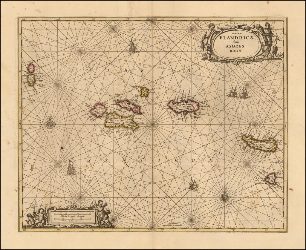Insulae Flandricae, olim Asores Dictae By Peter Schenk  &  Gerard Valk