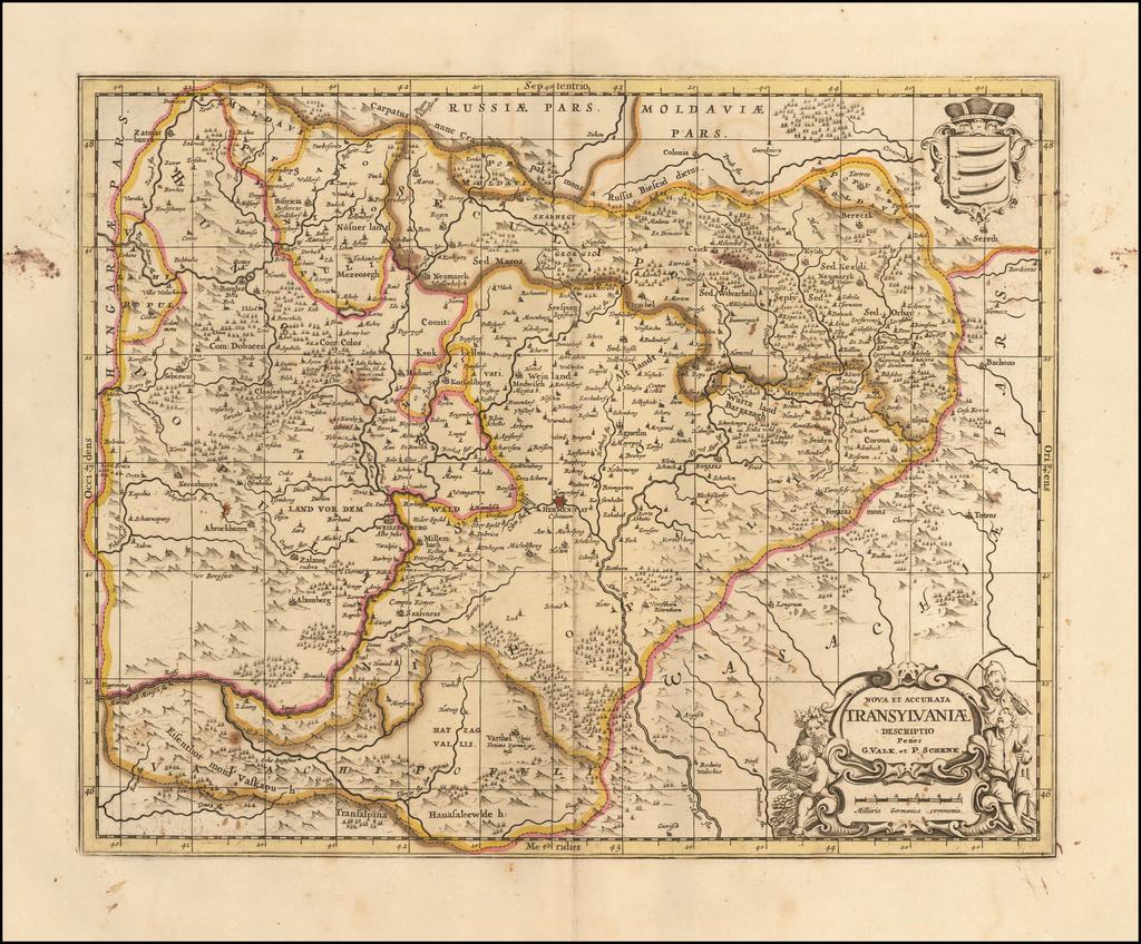 Nova et Accurata Transylvaniae Descriptio By Peter Schenk / Gerard Valk