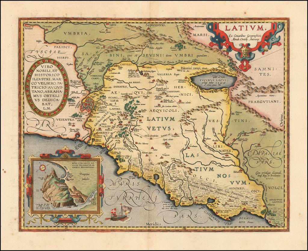 Latium. Ex Contaibus Geographicis Abrah. Ortelij Antverp. By Abraham Ortelius