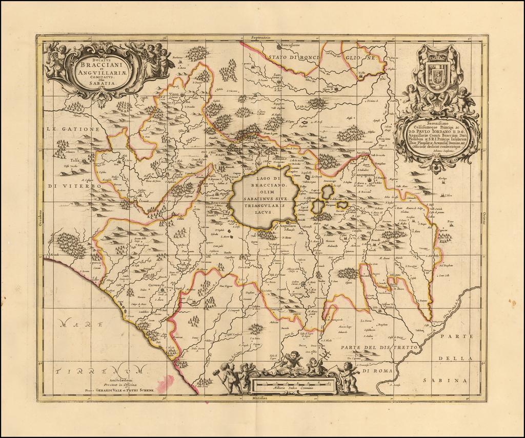 Ducatus Bracciani et Anguillariae Comitatus olim Sabatia By Peter Schenk / Gerard Valk