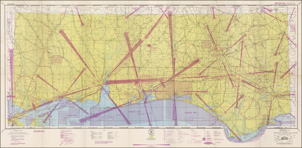 (Restricted) Mobile . . . Sectional Aeronautical Chart  By U.S. Coast & Geodetic Survey