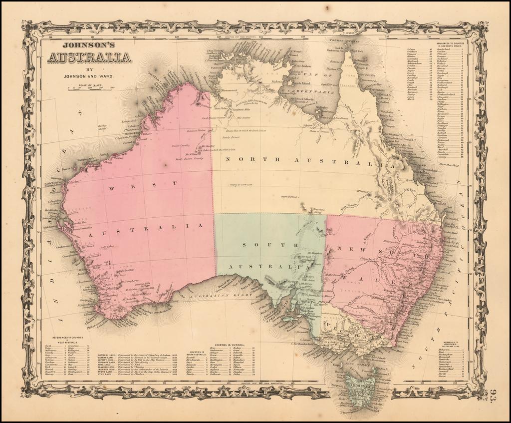 Johnson's Australia By Benjamin P Ward  &  Alvin Jewett Johnson