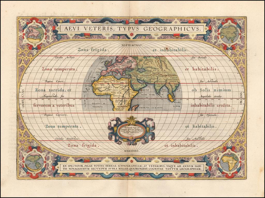 Aevi Veteris, Typus Geographicus By Abraham Ortelius