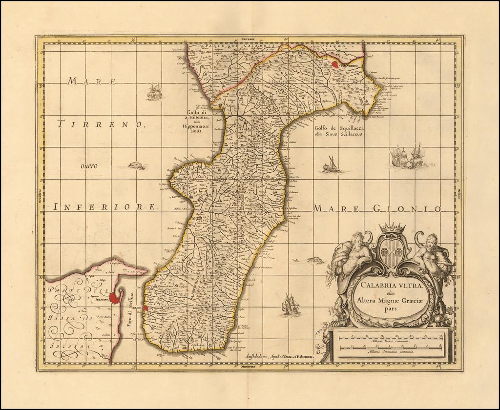 Calabria Ultra olim Altera Magnae Graeciae pars By Peter Schenk  &  Gerard Valk