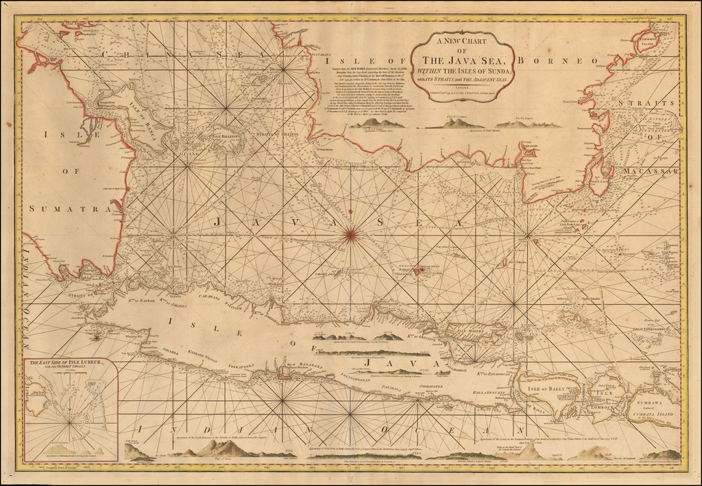 A New Chart of The Java Sea, within the Isles of Sunda with its Straits and the Adjacent Seas . . . 1799 By James Whittle  &  Robert Laurie