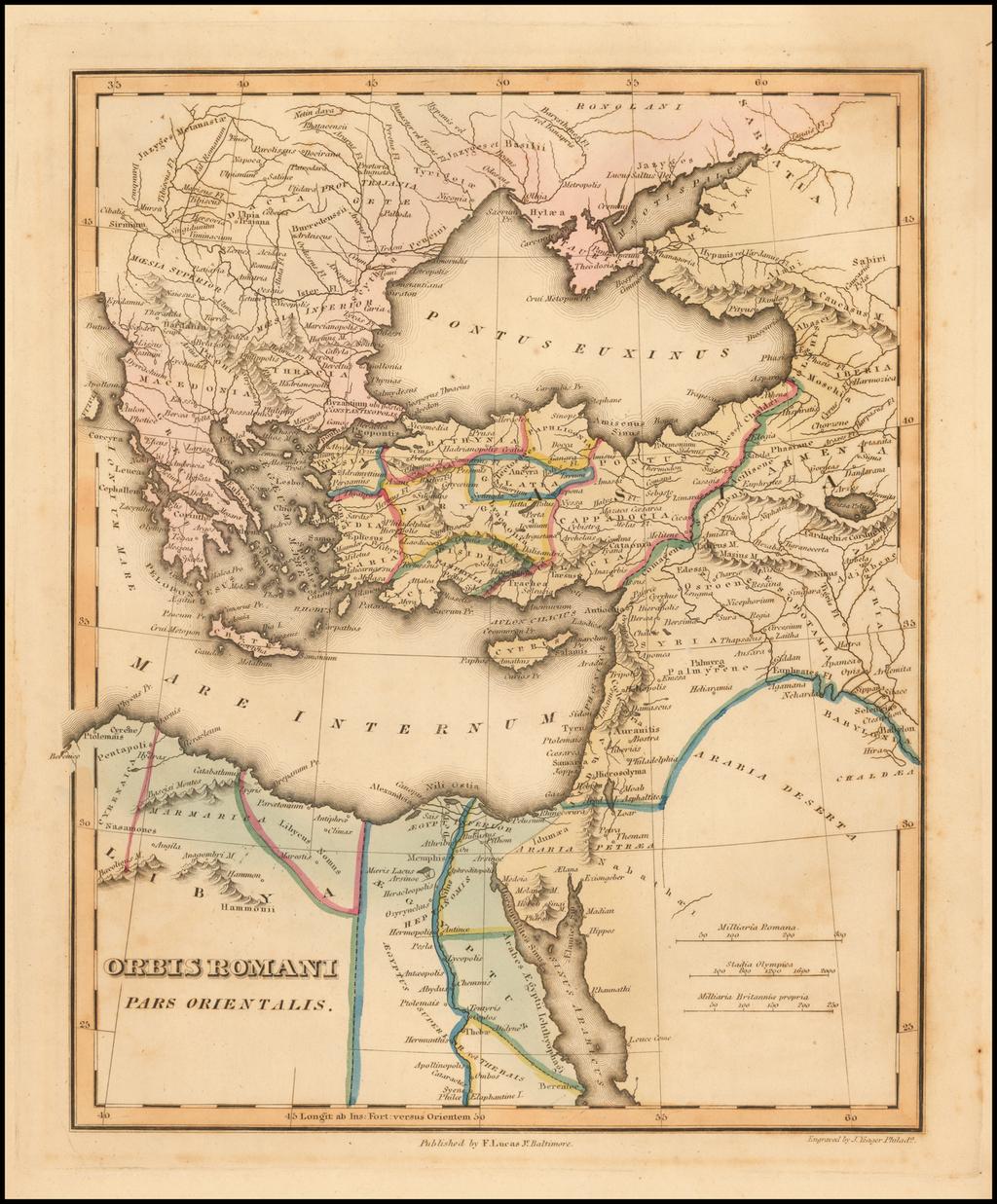Orbis Romani Pars Orientalis By Fielding Lucas Jr.