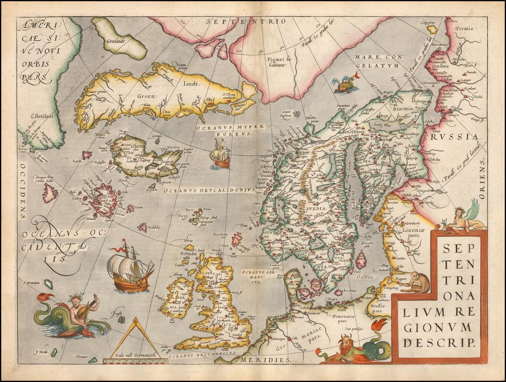 Septentrionalium Regionum Descrip. By Abraham Ortelius