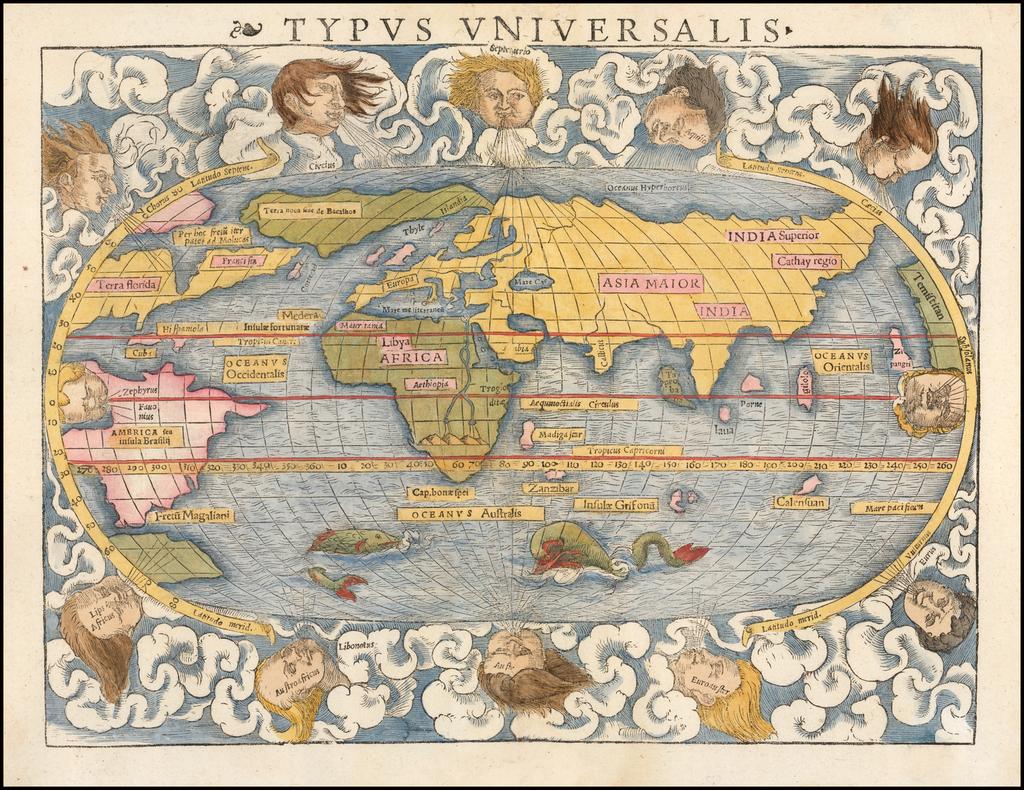 Typus Universalis By Sebastian Münster