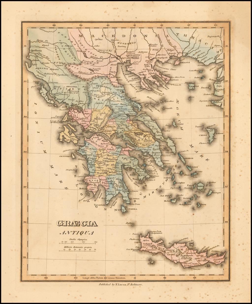 Graecia Antiqua By Fielding Lucas Jr.