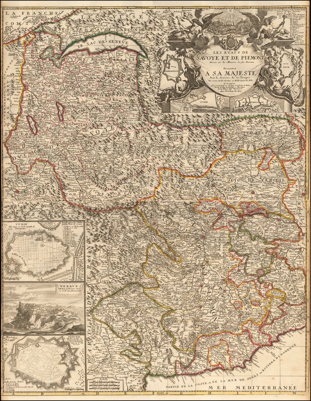 Les Etats De Savoye et de Piemont . . .   By Jean-Baptiste Nolin