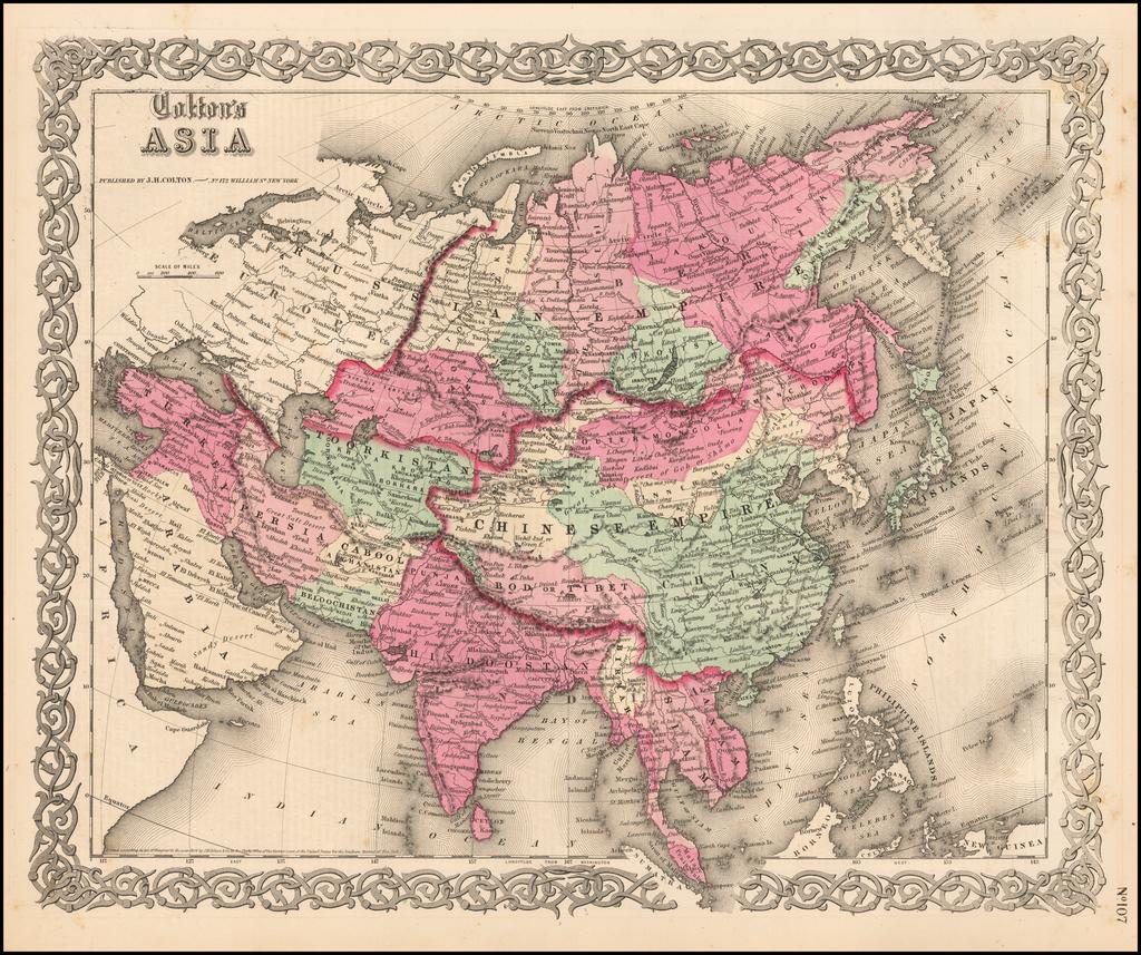 Colton's Asia By Joseph Hutchins Colton