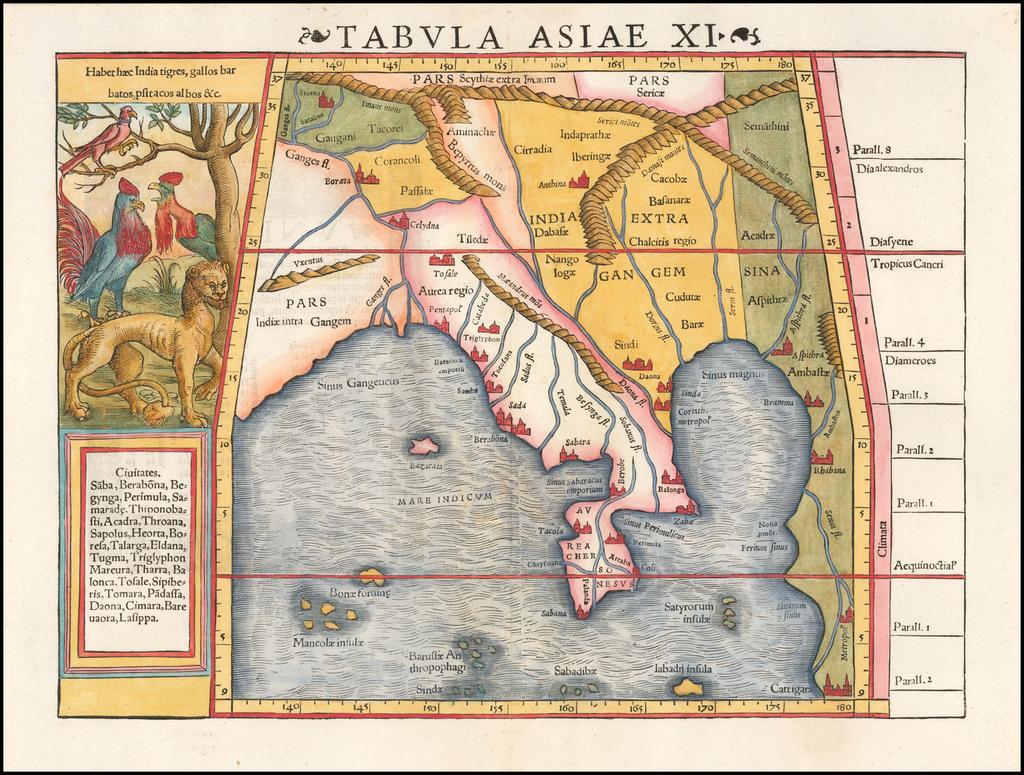 Tabula Asiae XI [Southeast Asia] By Sebastian Münster