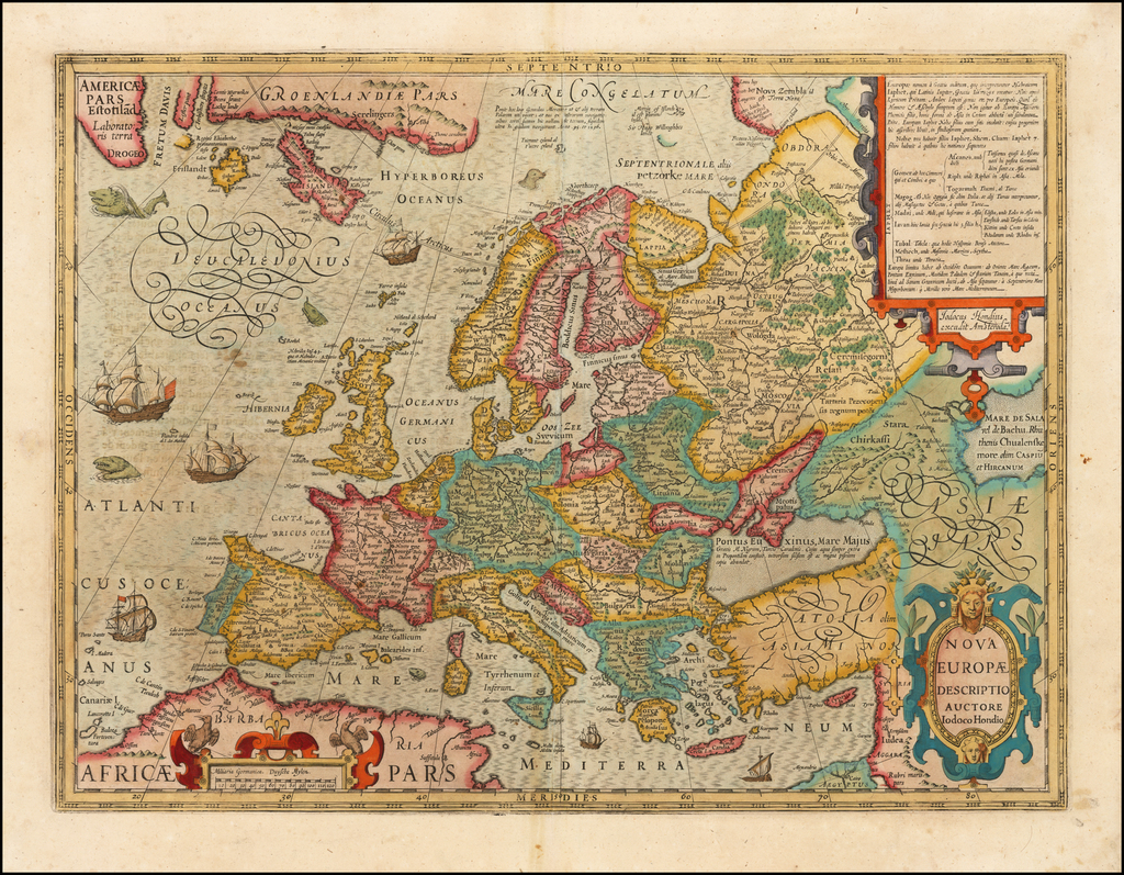 Nova Europae Descriptio By Jodocus Hondius