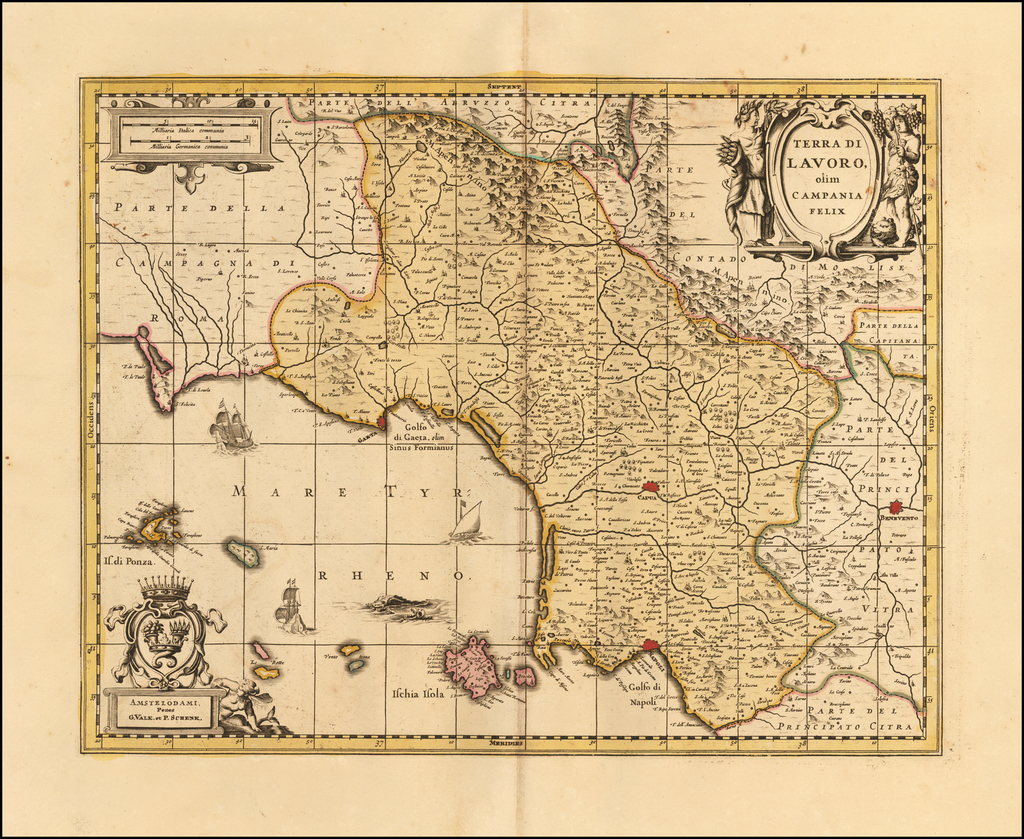 Terra di Lavoro olim Campania felix By Gerard Valk  &  Leonard Schenk
