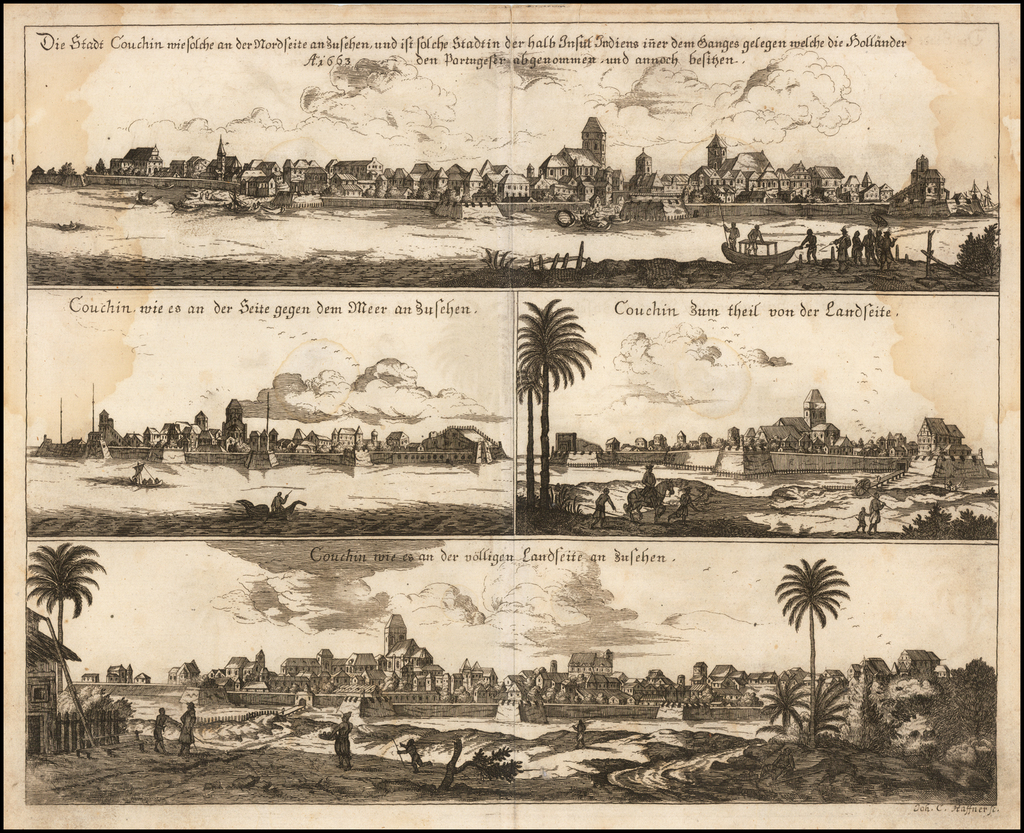 (Dutch Malabar)  Dies Stadt Couchin . . . ao. 1663  . . .  By Anonymous