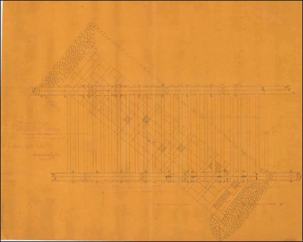 (UPRR Manuscript Architectural Drawings) [28 railroad design drawings by Union Pacific engineer Henry Harding.] By Henry Harding
