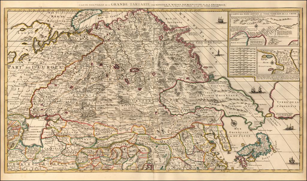 Carte Nouvelle de la Grande Tartarie, par Monsieur N: Witsen, Bourgemaistre. &c. &c. . . .  By Pieter Mortier