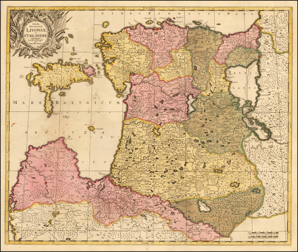 Tabula Ducatum Livoniae et Curlandiae recentior incisa editque . .  By Gerard Valk