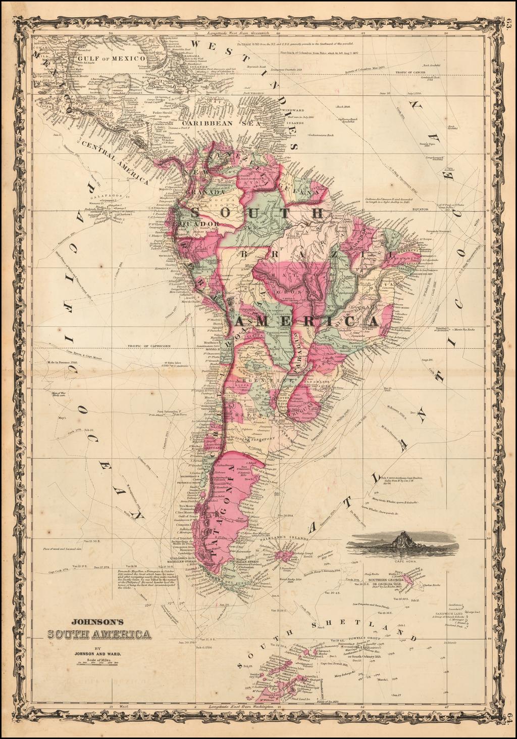 Johnson's South America By Alvin Jewett Johnson  &  Browning