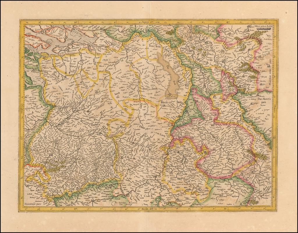 [Brabantia Comitatus]   By  Gerard Mercator