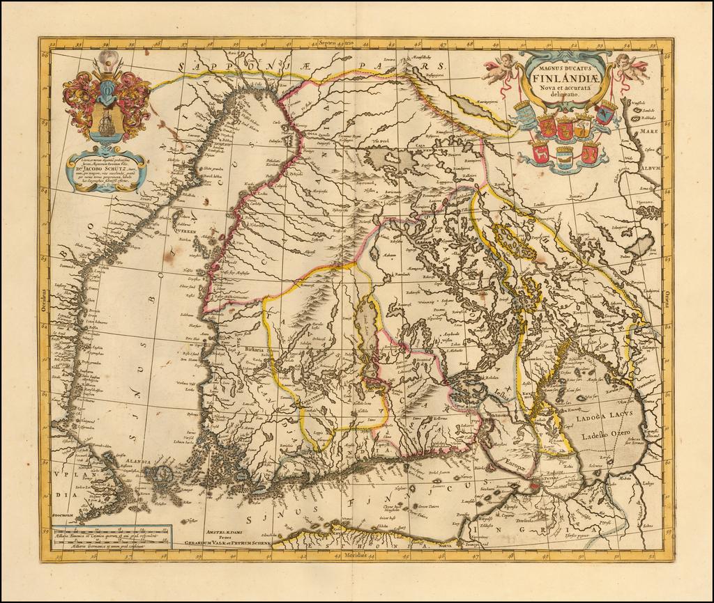 Magnus Ducatus Finlandiae Auct. Andrea Bureo Succo By Peter Schenk  &  Gerard Valk