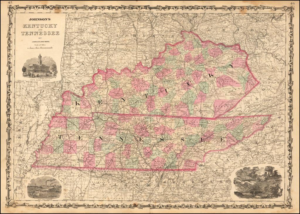 Johnson's Kentucky and Tennessee By Alvin Jewett Johnson