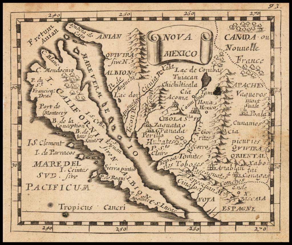 Nova Mexico (California as and Island) By Pierre Du Val